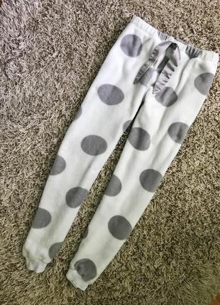 Плюшевые мягкие домашние штаны размер м-л