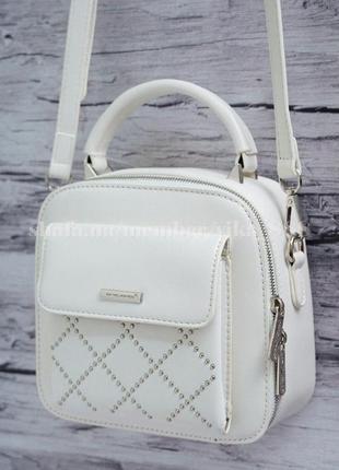 Клатч, сумка через плечо david jones 5190 белый