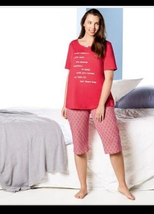 Хлопковая пижама футболка и капри, бриджи большой размер esmara1 фото