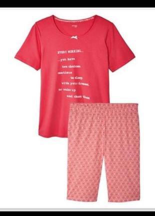 Хлопковая пижама футболка и капри, бриджи большой размер esmara3 фото