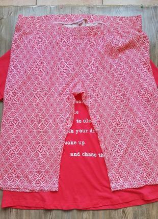 Хлопковая пижама футболка и капри, бриджи большой размер esmara9 фото
