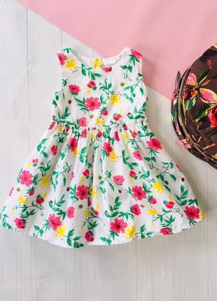 Натуральное платье в цветочек