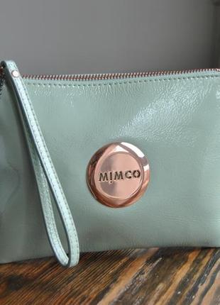 Кожаная сумка клатч mimco / шкіряний клатч