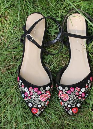 Туфли с острым носком new look