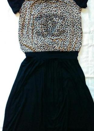 Платье макси новое 48-52 трикотаж вырез на спинке