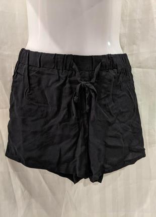 Черные летние короткие шорты р.361 фото