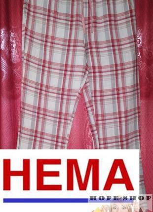 Домашние пижамные брюки в бело-красную клетку