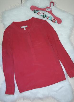 Шелковая блуза розовая banana republic