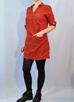 1681\60 вельветовое платье рубашка fei m l