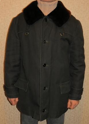 Дубленка доха пальто бушлат мех мутон разм 52-54 мужское