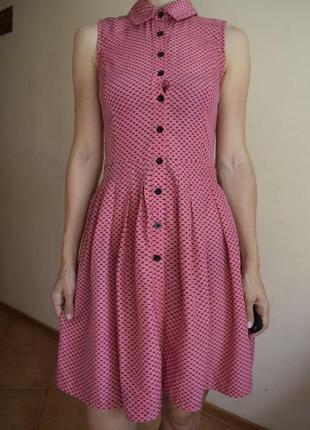 Платье на пуговицах платье-халат платье-рубашка платье в горошек