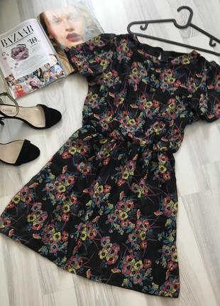 Платье цветочный принт шифон