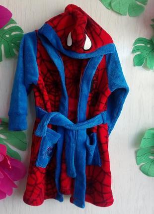 Суперский халат marvel spiderman на 2-3 года, 92-98см спайдермен