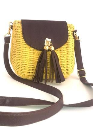 Соломенная сумка pronto moda (италия)
