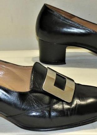 Туфли женские bally с пряжкой кожа размер 6