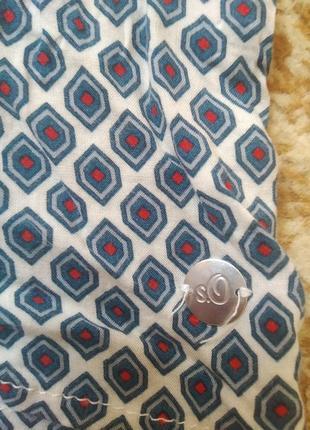 Летняя блуза блузка кофточка с красивым принтом s.oliver