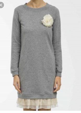 Платье миди трикотажное стильное модное дорогой  бренд twin set размер l-xl