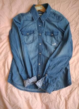 Новая, джинсовая рубашка, размер s