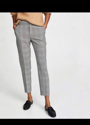 Крутые штаны в клеточку классические, повседневные new look