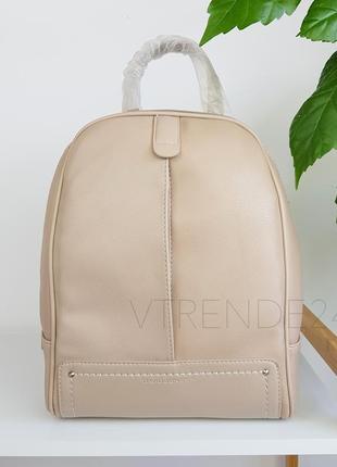 #3905 beige david jones вместительный стильный рюкзак!  супер цвета!