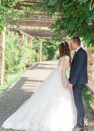 Весільна сукня свадебное платье шампань кружево