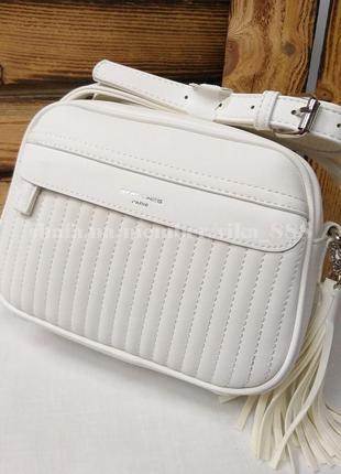 Клатч, сумка через плечо кросс-боди david jones 5967-2 белый