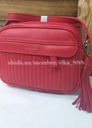 Клатч, сумка через плечо кросс-боди david jones 5967-2 красный