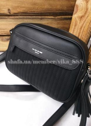Клатч, сумка через плечо кросс-боди david jones 5967-2 черный