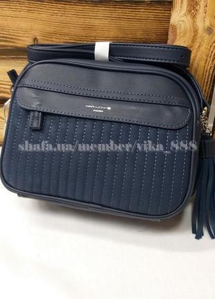 Клатч, сумка через плечо кросс-боди david jones 5967-2 темно-синий