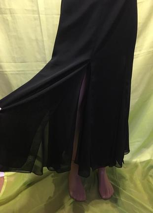 Нарядная юбка с разрезами большой размер как новая  22\58 р