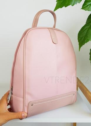 #3905 pink david jones вместительный стильный рюкзак! супер цвета!