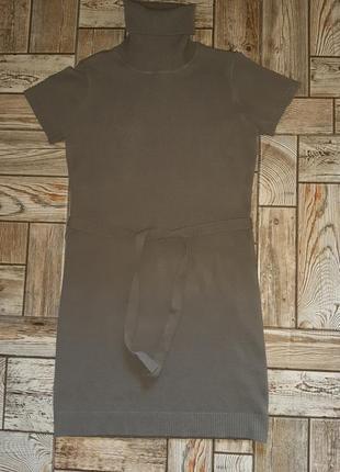 Вязанное платье с поясом junker jeans