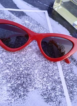 Очки солнцезащитные женские лисички красные