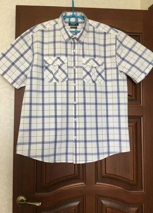 Рубашка в клетку/ шведка/ пог 60