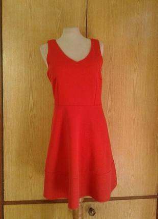 Рыже- красное платье ,l .4 фото