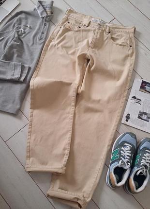 Made in italy-стильные светлые мужские джинсы мом