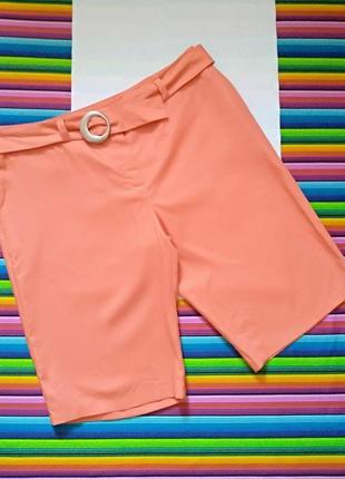 Летние шорты с поясом marks&spencer autograph 100% лён uk 18 наш 50-52 размер цена 250 грн