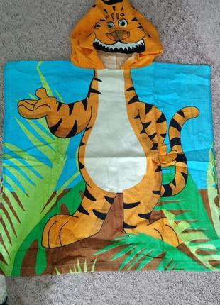 Пончо полотенце детское