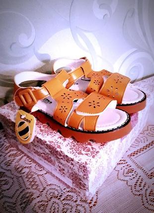 Ортопедические кожаные сандалии/босоножки с супинатором tm clibee в стиле timberland.