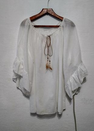 Стильная итальянская блуза большого размера
