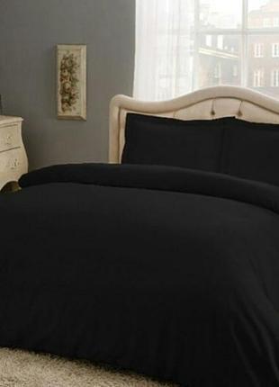 Комплект постельного белья тас,евро комплект,черный комплект