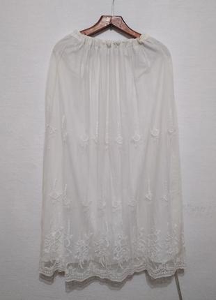 Ажурная юбка в пол большого размера