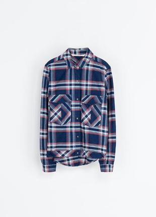 Крутая  джинсовая куртка в клетку