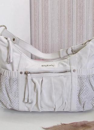 Шикарная сумка betty barclay, германия, натуральная кожа