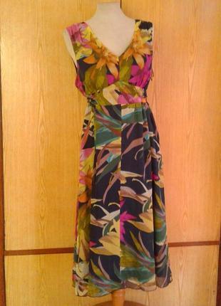 Крепдешиновое платье - сарафан,xl.