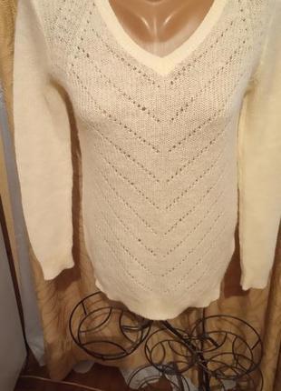 Нежный тонкий мохеровый пуловер soyaconcept дания