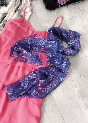 Шарф платок в цветы