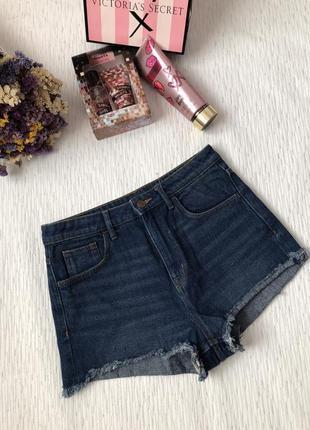 H&m джинсовые шорты , высокая посадка 38- размер . тренд