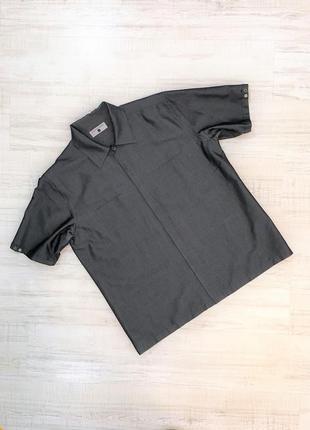 Рубашка с коротким рукавом летняя черная мужская классическая jonathan adams, р. l-xl
