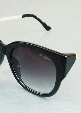 Salvatore ferragamo очки солнцезащитные  женские черные